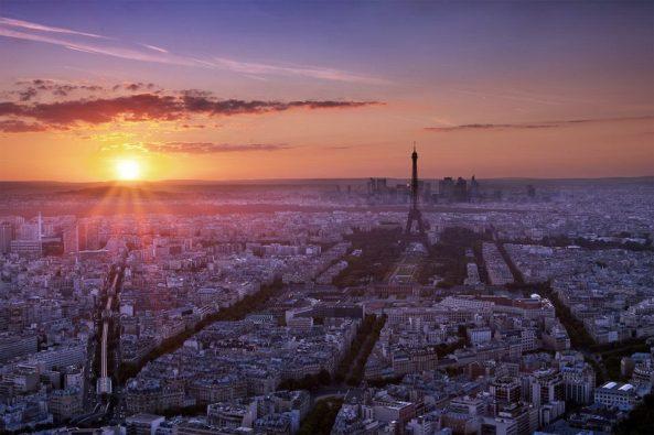 planet puesta de sol paris