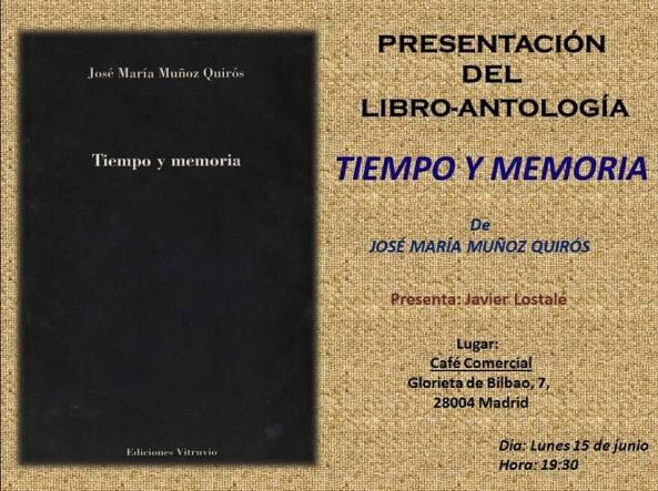 Jose mª Muñoz Quirós - Presentación de 'Tiempo y memoria'